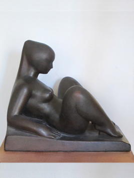 Original signed sculpture de  : Face au monde