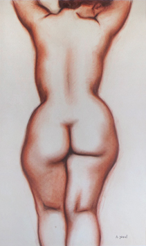 Original signed drawing de  : Study of a nude VII