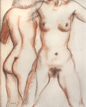 Original signed drawing de  : Study of a nudes VIII