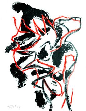 Appel Karel : Lithographie originale signée : Titre inconnu