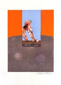Bacon Francis : Lithographie signée : Etude de Tauromachie