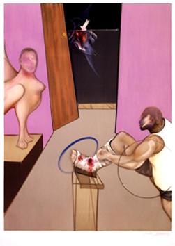 Bacon Francis : Lithographie signée : Oedipe et le Sphinx