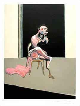 Bacon Francis : Lithographie signée : Triptyque 72 (Georges Dyer)