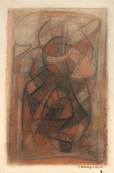 Signed drawing in pastel de  : Composition XIV