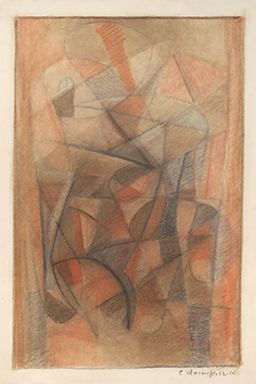 Signed drawing in pastel de  : Composition XV