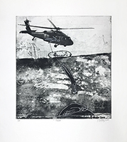 Original signed etching de  : Rescate