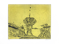 Original signed etching de  : Moloch