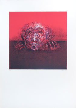 Original signed lithograph de  : Drowned man