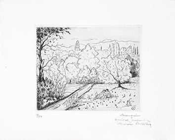 Gravure originale signée de  : En Provence