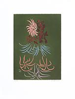 Signierte originale Radierung de  : Blumen