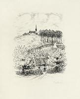 Signierte originale Radierung de  : Le Cahier vert - Hors Texte