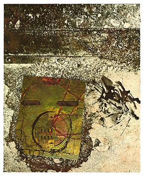 Lithographie originale signée de  : Place Mat