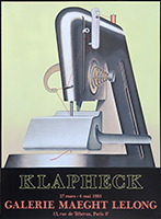 Original lithograph poster de Klapheck Konrad : Sewing machine