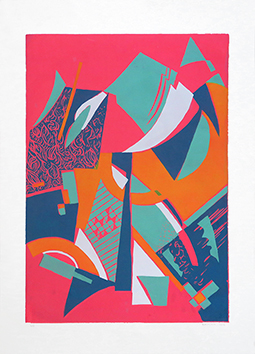 Original signed screenprint de  : Composition 43 - Série 2