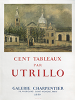 Mourlot exhibition poster de Utrillo Maurice : Cent tableaux par Utrillo