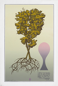 Original signed screenprint de  : L'arbre de vie Opus 274