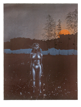 Wunderlich Paul : Original signed lithograph : Twilight