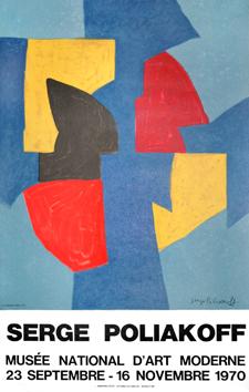 Poliakoff Serge : Affiche lithographie : Musée d'Art Moderne