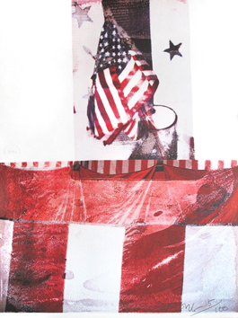 Rauschenberg R. : Lithographie signée : Kennedy Campaign