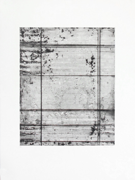 Original etching drypoint de Allirand Renaud : Composition without title XV
