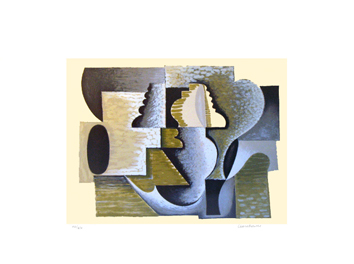 Signed lithograph de  : Composition III