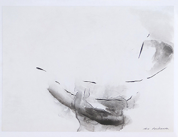 Signed drawing in ink de  : Composition without title XVIII