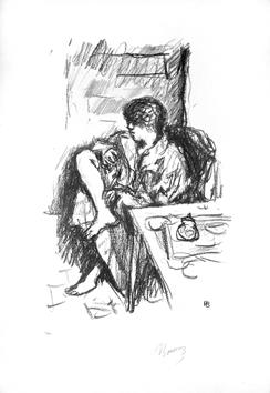 Bonnard Pierre : Lithographie originale signée : La toilette assise