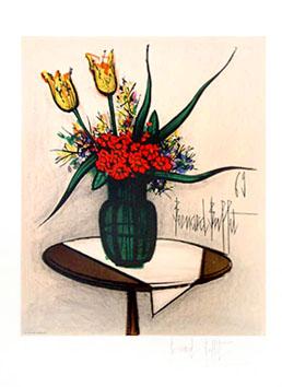 Buffet Bernard : Lithographie : Bouquet de fleurs