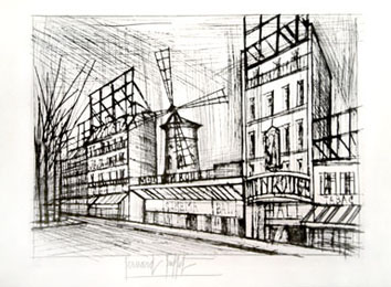 Etching de  : Le Moulin rouge