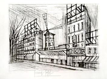 Buffet Bernard : Gravure : Le Moulin rouge