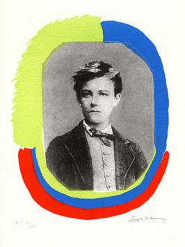 Delaunay Sonia : Lithographie : Portrait d'Arthur Rimbaud