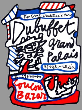 Dubuffet Jean : Lithographie originale signée : Grand Palais
