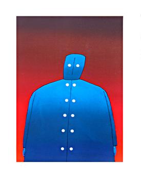 Folon Jean Michel : Originale Lithographie : Figur