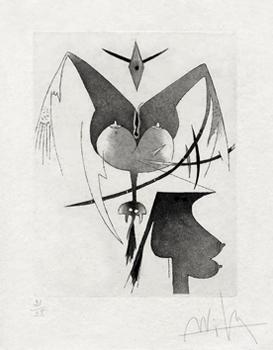 Lam Wifredo : Gravure originale : Croiseur noir V