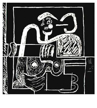 Le Corbusier : Lithographie originale : Assise
