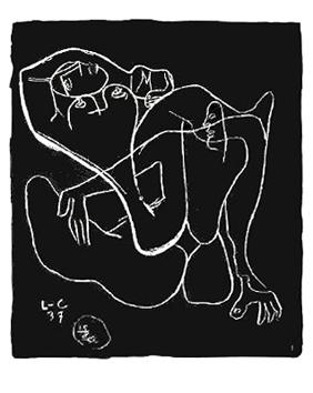 Le Corbusier : Lithographie : Entre-deux