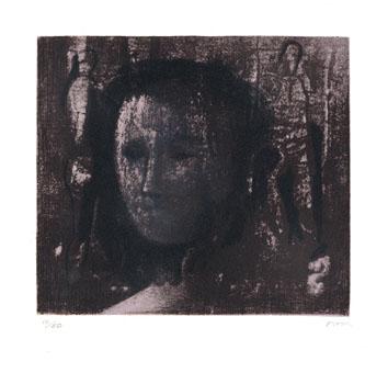 Moore Henry : Lithographie : Tête de femme