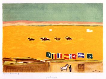 Van Dongen Kees : Lithographie : Polo à Alexandrie