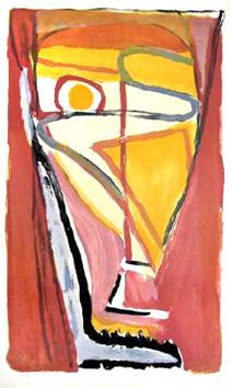 Van Velde Bram : Lithographie originale signée : Composition V