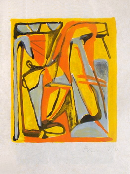 Original signed lithograph de  : Composition VI