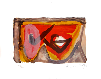 Van Velde Bram : Lithographie signée : Composition X