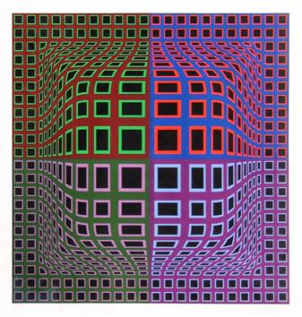 Vasarely Victor : Sérigraphie originale : Composition B