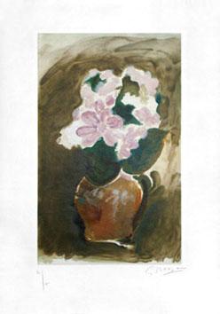Braque Georges : Gravure d'interprétation : Bouquet