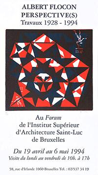 Linogravure originale signée de  : Perspective(s), Travaux 1928-1994
