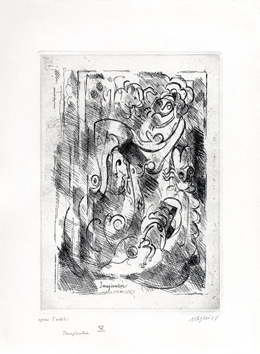 Original signed etching de Gleizes Albert : Imagination