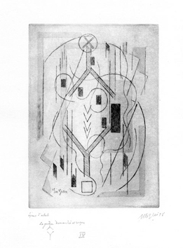 Original signed etching de Gleizes Albert : Grace