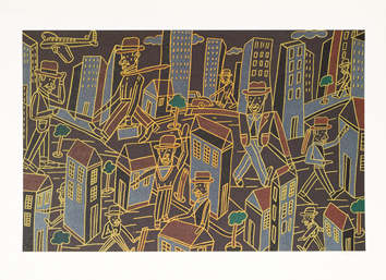 Original signed lithograph de  : Composition for City-dweller I a
