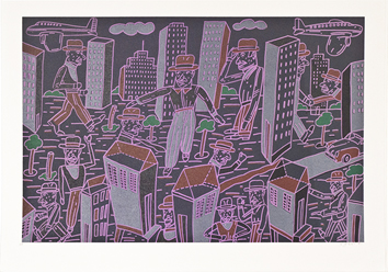 Original signed lithograph de  : Composition for City-dweller II