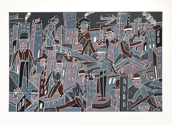 Original signed lithograph de  : City-dweller II