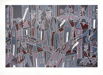 Original signed lithograph de  : City-dweller V